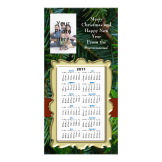 Custom Christmas/New Year Photo Card Calendar