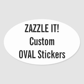 106 design your own oval stickers zazzle. Black Bedroom Furniture Sets. Home Design Ideas