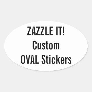 Custom Christmas OVAL Stickers Blank Template