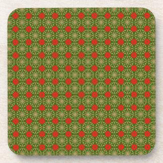 Custom Christmas Pattern Beverage Coasters