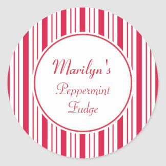 Custom Christmas Peppermint Gift Tag Stickers