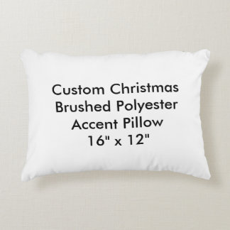 "Custom Christmas Polyester Accent Pillow 16""x12"""