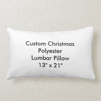 "Custom Christmas Polyester Lumbar Pillow 13""x21"""