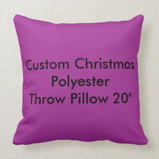 Custom Christmas Polyester Throw Pillow 20""