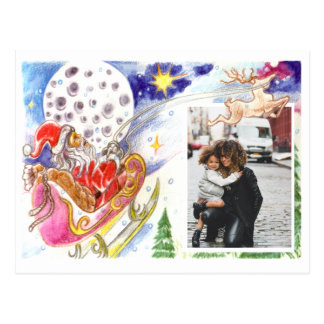 Custom christmas postcard (use your family photo!)