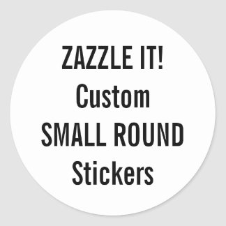 Custom Christmas ROUND Stickers Blank Template