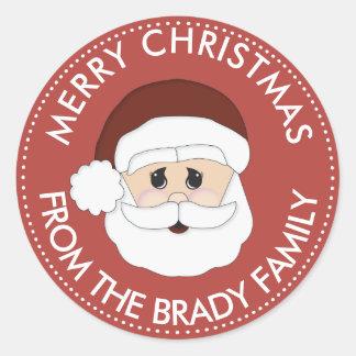 Custom Christmas Santa Claus Sticker