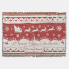 Custom Christmas Santa Sleigh Throw Blanket