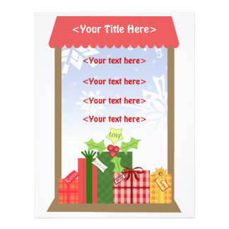 Custom Christmas Scenes Business or Personal Flyer