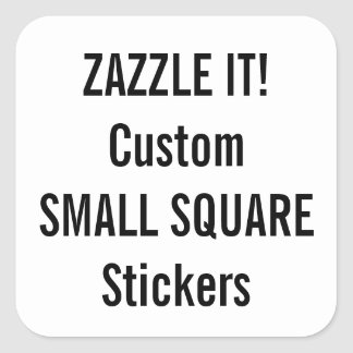 Custom Christmas SQUARE Stickers Blank Template