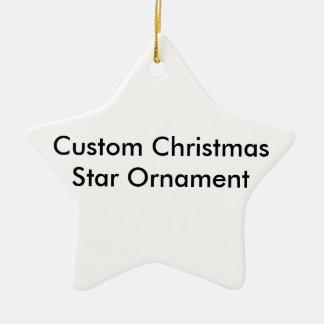 Custom Christmas Star Ornament. Ceramic Star Decoration