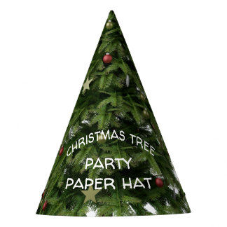 Custom Christmas Tree Party Hat