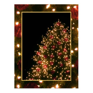 Custom Christmas Tree Postcard