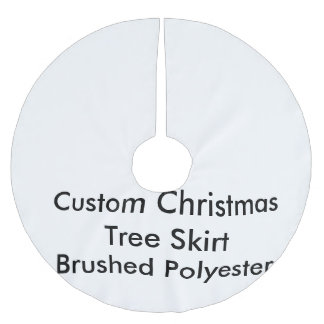 Custom Christmas Tree Skirt, Brushed Polyester Brushed Polyester Tree Skirt