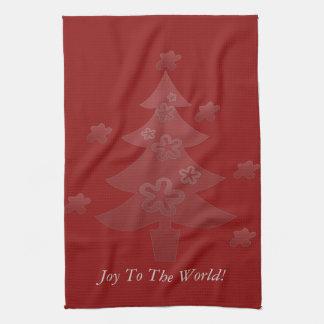 Custom Christmas Tree Stars Holiday Tea Towel