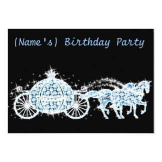 Custom Cinderella's Carriage Birthday Party Invite