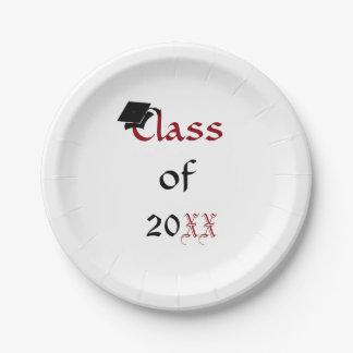 Custom Class of 20XX Graduation Plates