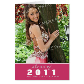 Custom Class of [YEAR] Graduation Announcement Greeting Card