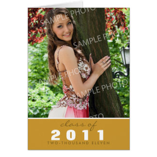 Custom Class of [YEAR] Graduation Announcement Stationery Note Card
