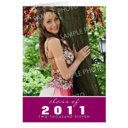 Custom Class of [YEAR] Graduation Announcement Greeting Cards