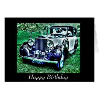 Custom Classic Birthday Roll Royce Card