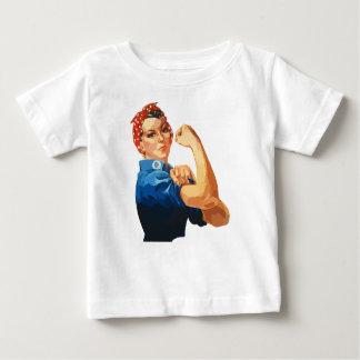 Custom Classic Rosie The Riveter Baby T-Shirt