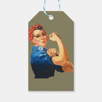 Custom Classic Rosie The Riveter Gift Tags