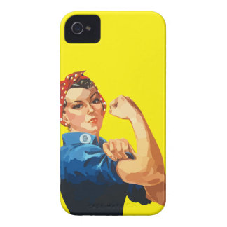 Custom Classic Rosie The Riveter iPhone 4 Case