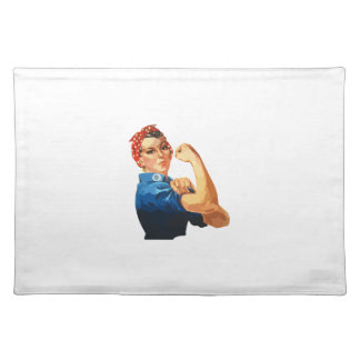 Custom Classic Rosie The Riveter Placemats