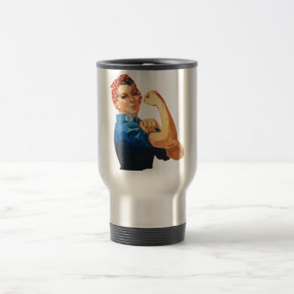Custom Classic Rosie The Riveter Travel Mug