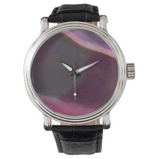 Custom clock pink watch