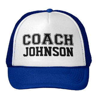 Custom Coach Hat