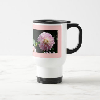Custom Coffee Mugs Pink White Dahlia Flowers
