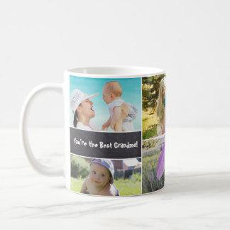 Custom Collage 6 Photos, Personalised, chalked Coffee Mug
