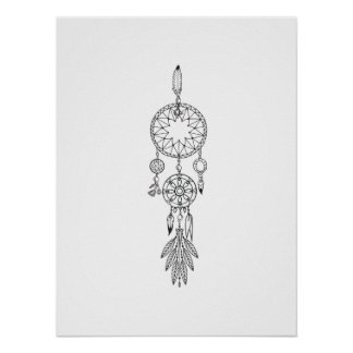 Custom College Dreamcatcher Coloring Poster