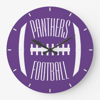 Custom Color and Team Name Football Wall Clock