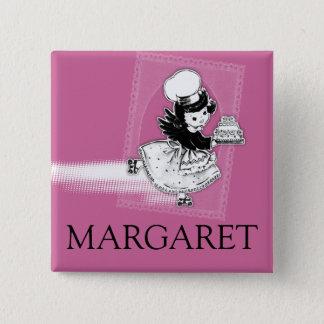 Custom color angel cake bakery name badge