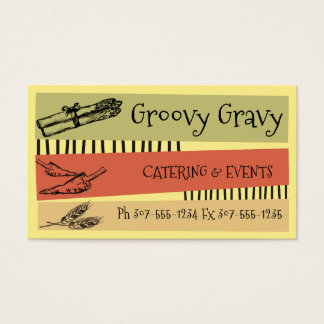 Custom color asparagus pepper wheat chef catering business card