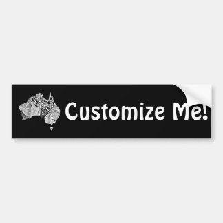 Custom Color Australia Souvenir Map Art Bumper Sticker