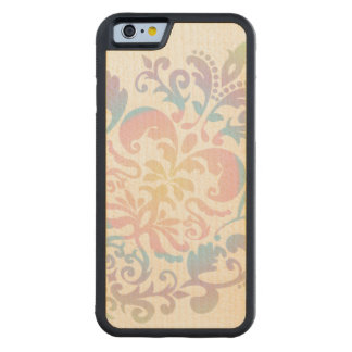 Custom Color Background Pastel Damask Pattern Maple iPhone 6 Bumper