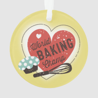 Custom color baking champ Christmas ornament