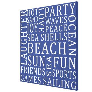 Custom Color Beach House wrapped canvas print