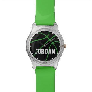 Custom Color Black Basketball Watch for Kids
