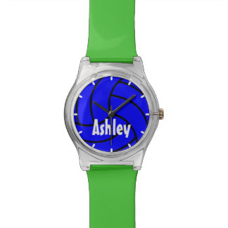 Custom Color Blue Kids Volleyball Watch