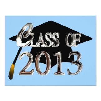 "Custom Color Class Of 2013 Graduation Invitations 4.25"" X 5.5"" Invitation Card"