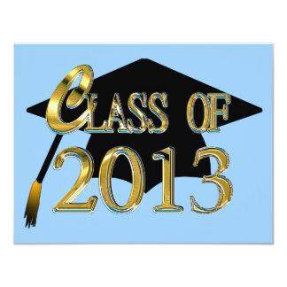 Custom Color Class Of 2013 Graduation Invitations