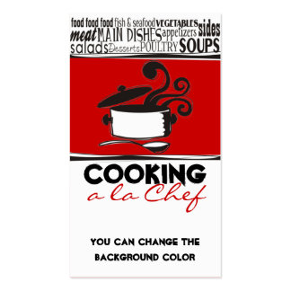 Custom color cooking pot curling steam chef card business card templates