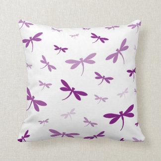Custom Color Dragonflies - Various Shades Throw Cushion
