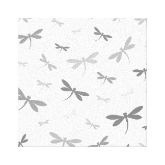 Custom Color Dragonflies - Various Shades Stretched Canvas Prints