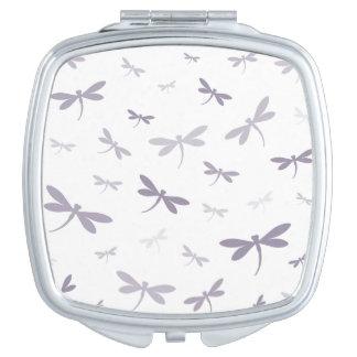 Custom Color Dragonflies - Various Shades Travel Mirrors
